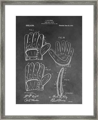 Baseball Mitt Patent Framed Print by Dan Sproul