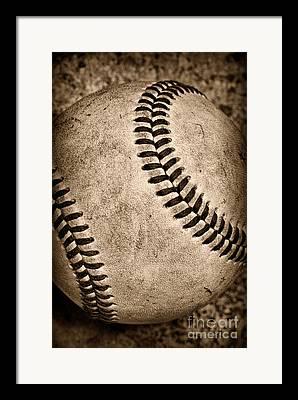 Children Baseball Framed Prints