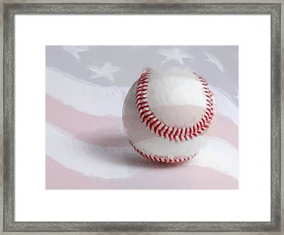 Baseball - Painterly Framed Print by Heidi Smith