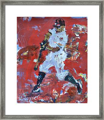 Baseball Painting Framed Print