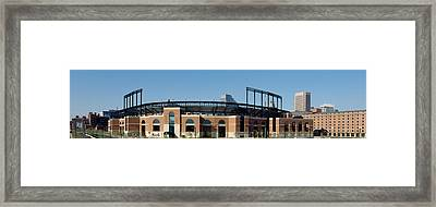 Baseball Park In A City, Oriole Park Framed Print by Panoramic Images