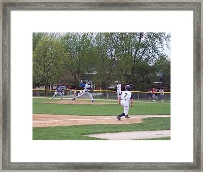 Baseball Pitcher The Delivery Framed Print by Thomas Woolworth