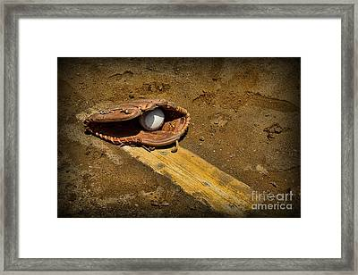 Baseball Pitchers Mound Framed Print by Paul Ward