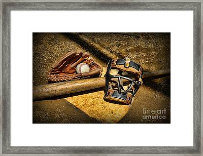 Baseball Play Ball Framed Print by Paul Ward