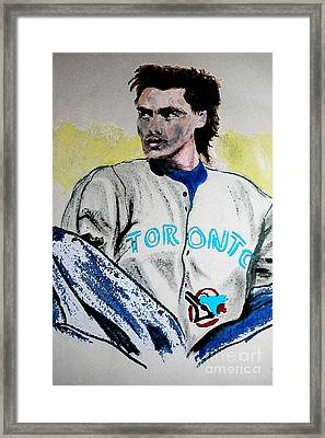 Baseball Player Framed Print by First Star Art