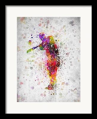Softball Framed Prints