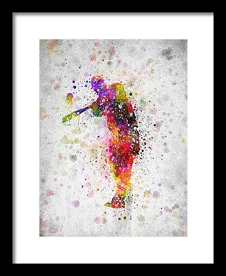 Softball Framed Prints