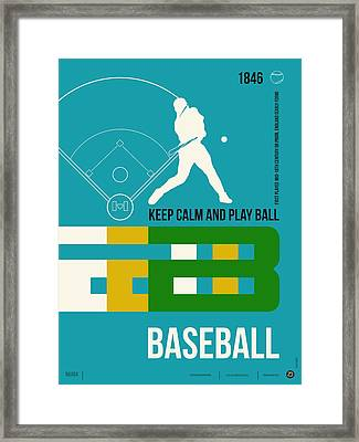 Baseball Poster Framed Print by Naxart Studio