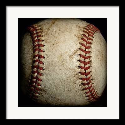 Baseball Close Up Framed Prints