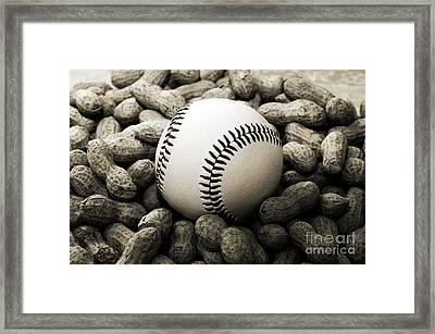 Baseball Season Edgy Bw 1 Framed Print