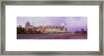 Baseball Stadium At The Roadside Framed Print by Panoramic Images