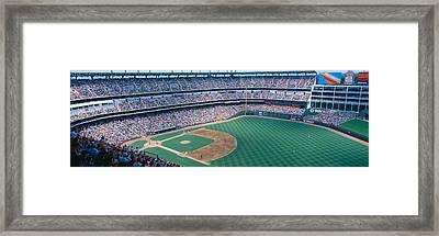 Baseball Stadium, Texas Rangers V Framed Print