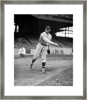 Baseball Star Walter Johnson Framed Print