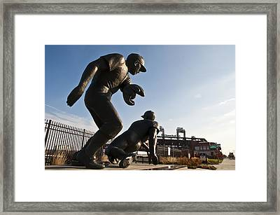 Baseball Statue At Citizens Bank Park Framed Print