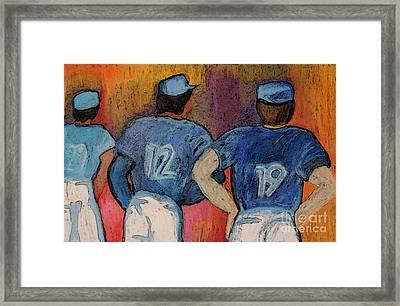 Baseball Team By Jrr  Framed Print by First Star Art