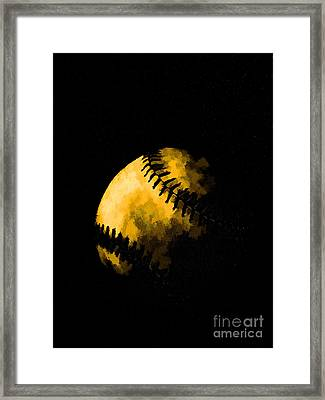 Baseball The American Pastime Framed Print