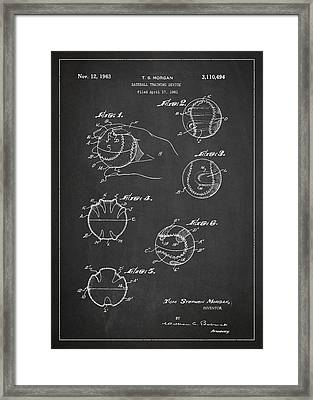 Baseball Training Device Patent Drawing From 1961 Framed Print by Aged Pixel