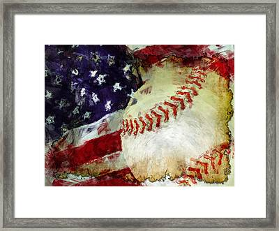 Baseball Usa Framed Print