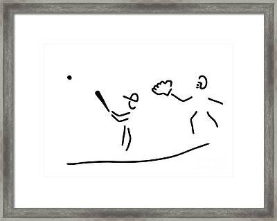 Baseball Usa Sport Framed Print by Lineamentum