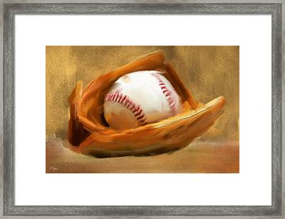 Baseball V Framed Print by Lourry Legarde