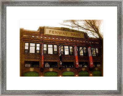 Baseballs Classic  V Bostons Fenway Park Framed Print by Iconic Images Art Gallery David Pucciarelli