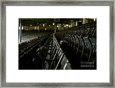 Baseball's Classic Bostons Fenway Park Seats Framed Print