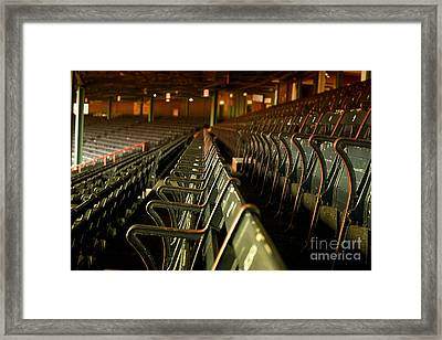 Baseball's Classic Bostons Fenway Park Vintage Seats Framed Print