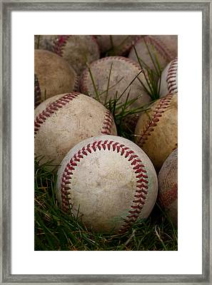 Baseballs Framed Print by David Patterson