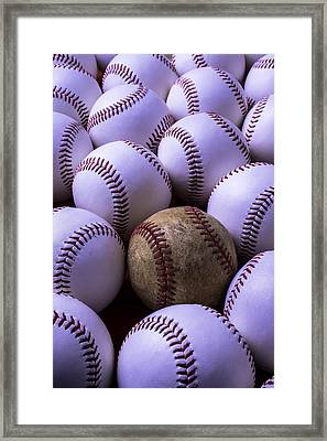 Baseballs  Framed Print by Garry Gay