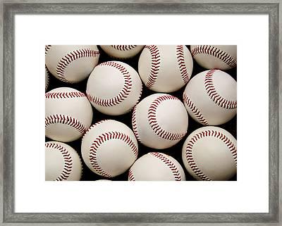 Baseballs Framed Print by Ricky Barnard