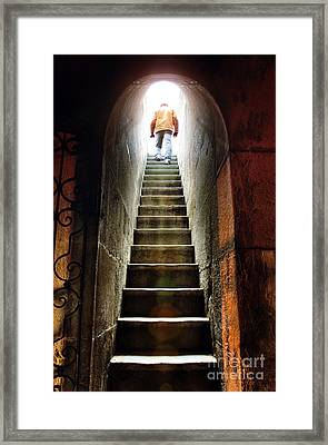 Basement Exit Framed Print