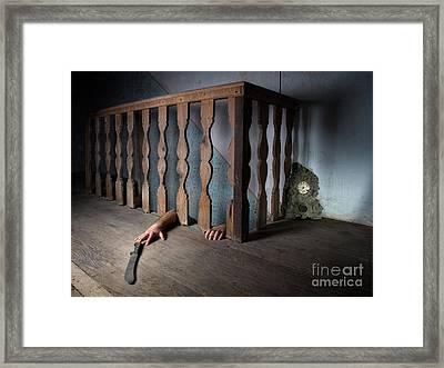 Basement Fear Framed Print