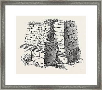 Basement Of Station On The Roman Wall Framed Print