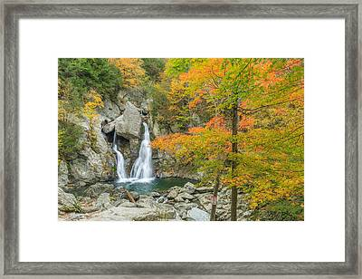 Bash Bish Falls Autumn Framed Print by Bill Wakeley