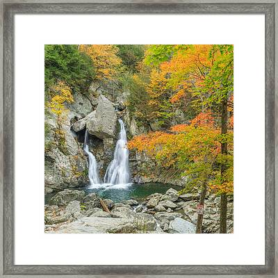 Bash Bish Falls Square Framed Print by Bill Wakeley