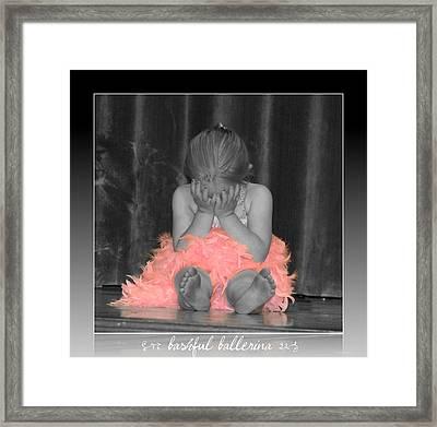 Bashful Ballerina Framed Print