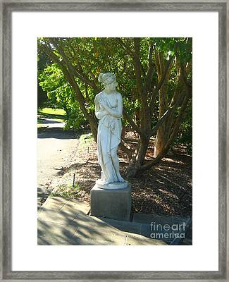 Framed Print featuring the photograph Bashful Maiden by Leanne Seymour