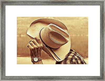 Framed Print featuring the photograph Bashful by Sandi Mikuse