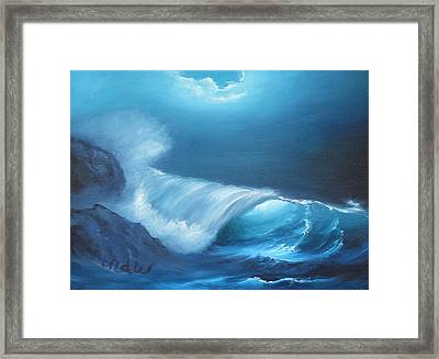 Basic Wave Framed Print