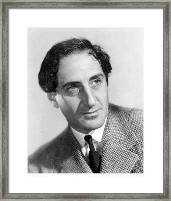 Basil Rathbone In The Adventures Of Sherlock Holmes  Framed Print by Silver Screen