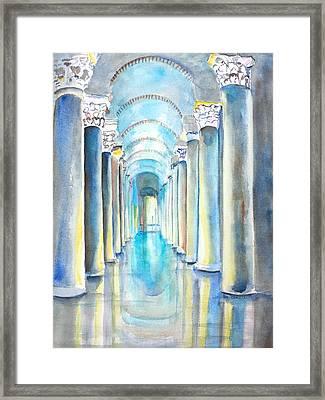 Basilica Cistern Istanbul Turkey Framed Print