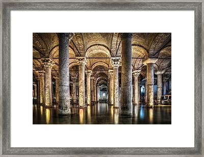 Basilica Cistern Istanbul Turkey Framed Print by Marc Garrido