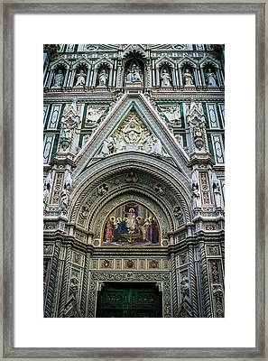 Basilica Di Santa Maria Del Fiore Florence Italy Color Enhanced Framed Print by Karen Stephenson
