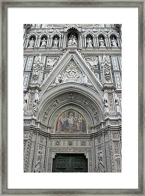 Basilica Di Santa Maria Del Fiore Florence Tuscany Italy Realistic Framed Print by Karen Stephenson