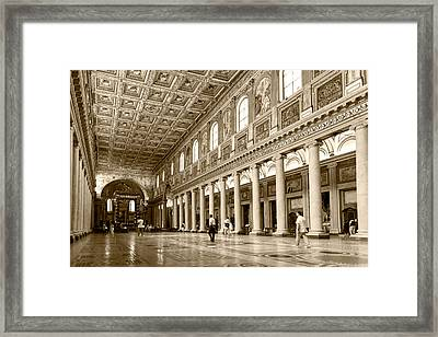 Framed Print featuring the photograph Basilica Di Santa Maria Maggiore by Brad Brizek