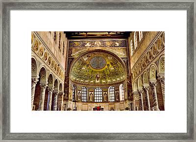 Basilica Di Sant'apollinare Nuovo - Ravenna Italy Framed Print by Jon Berghoff