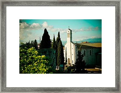 Basilica In Assisi  Framed Print by Raimond Klavins