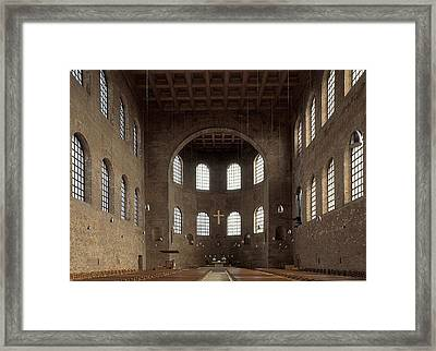 Basilica Of Constantine. 3rd C. - 4th Framed Print