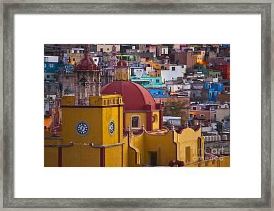 Basilica Of Our Lady Of Guanajuato Mexico Framed Print