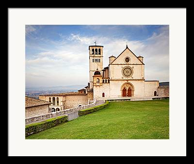 Assisi Church Framed Prints